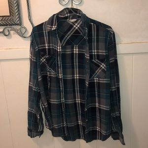 Turquoise flannel